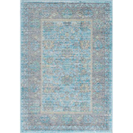 Bliss Rugs Vienna Traditional Area Rug, Blue
