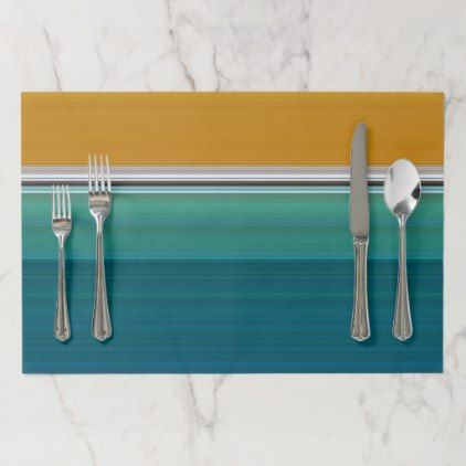 Swimming Pool Abstract Paper Placemat - kitchen gifts diy ideas decor special unique individual customized