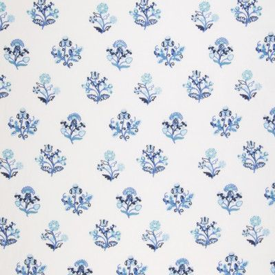 A8637 Sapphire | Greenhouse Fabrics (motif from Indian block printed textiles)