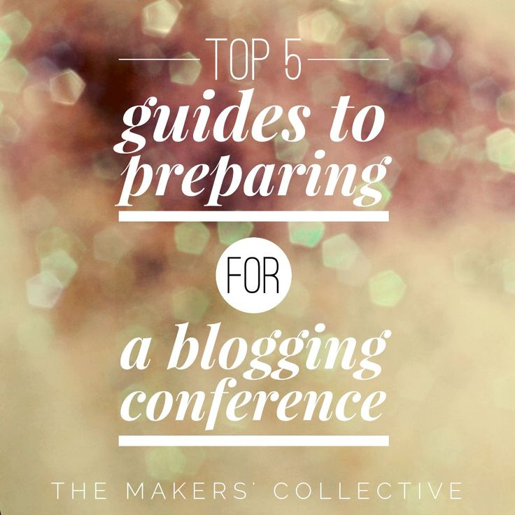 preparing for a blogging conference