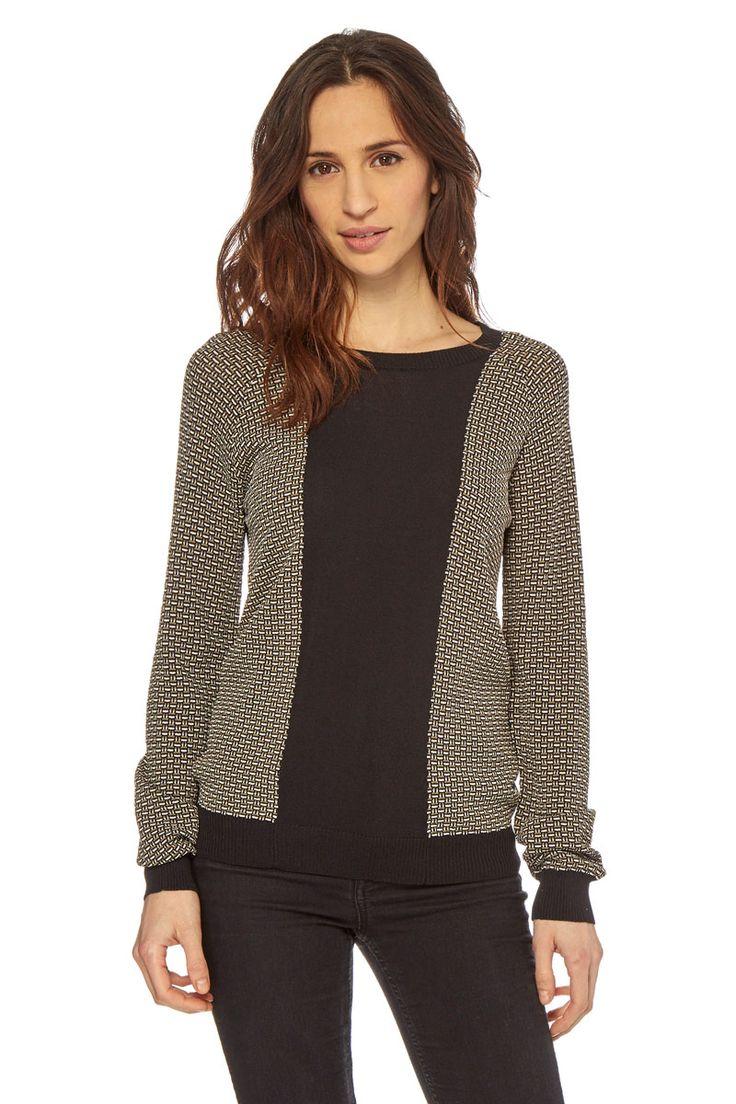 Vendita Silvian Heach / 23531 / Donna / Pullover, cardigan e felpe / Pullover Motivi Geometrici Nero