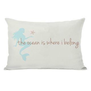 Ocean is Where I Belong Mermaid Throw Pillow | Overstock.com Shopping - Great Deals on Throw Pillows