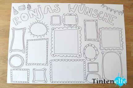 Basteln mit Kindern - Wunschzettel mit Ausmalspaß - Tintenelfe Blog