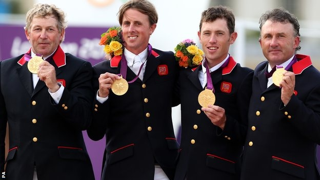 Nick Skelton, Ben Maher, Scott Brash and Peter Charles win show jumping Gold - first for 60 years!