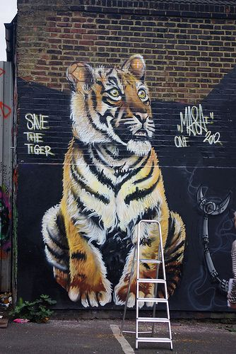 Street art near Brick Lane, London.  visit dopewriter.com to buy personal graffiti via paypal