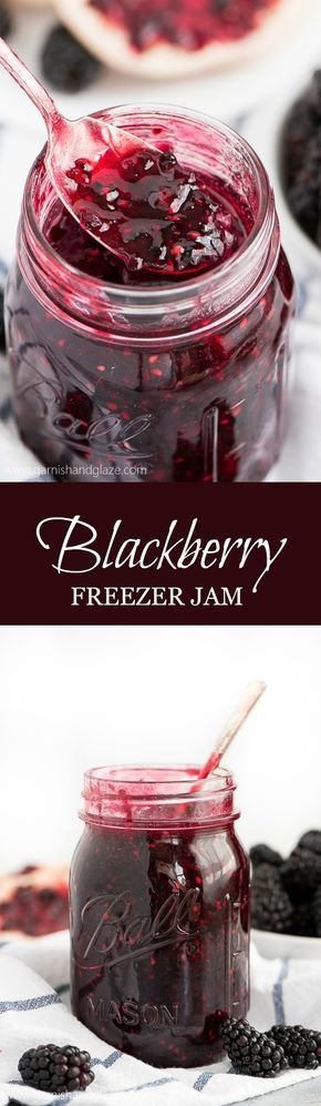 Bottle up those gorgeous dark summer berries in this simple 5-Ingredient Blackberry Freezer Jam. Spread it over everything from toast to cake!
