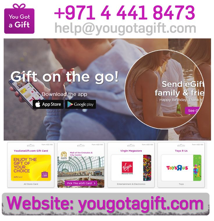 Need a gift for your beloved sister? Switch to eGift cards and visit YouGotaGift.com to experience the difference. Based in Dubai, we offer a fun and convenient way of celebrating friends and occasions by sending prepaid Gift cards from leading brands using the web and mobile devices.