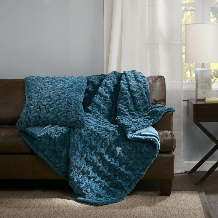 Madison Park Ruched Fur Throw U0026 Reviews | Wayfair. Designer LivingFur ...