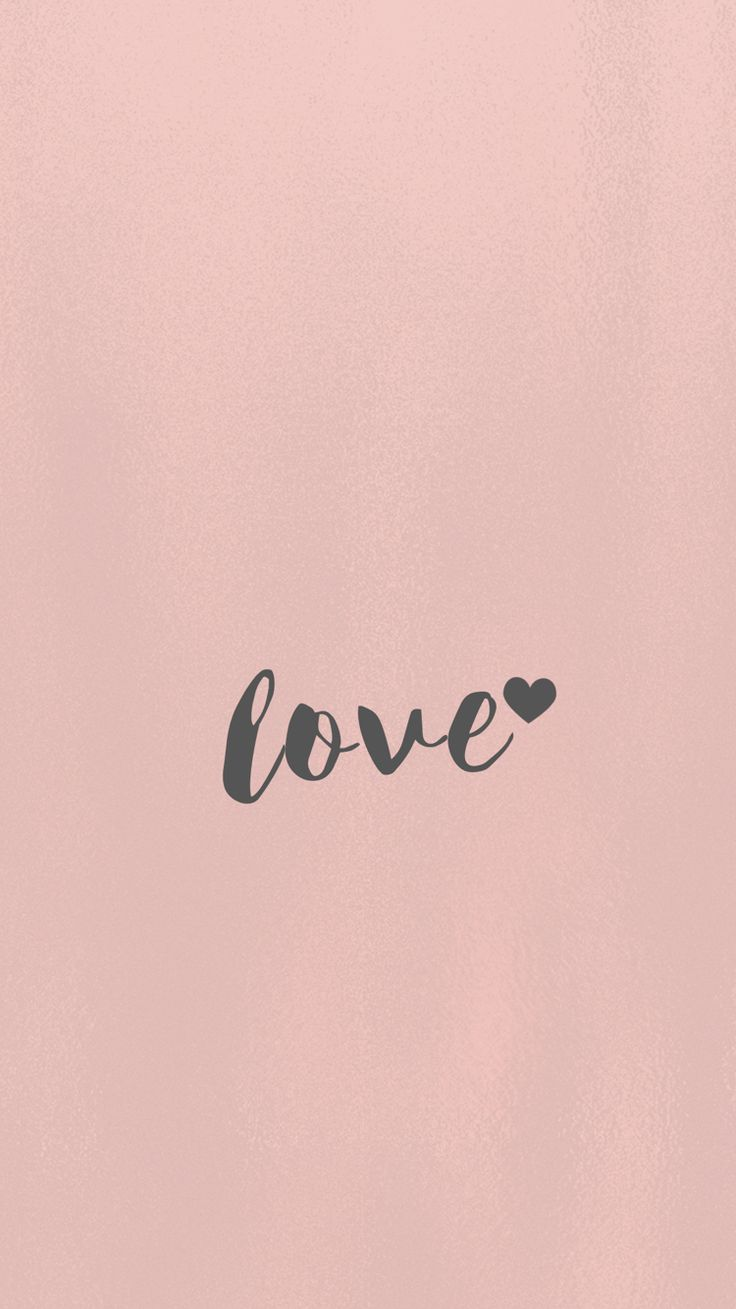Love, wallpaper, iPhone, 6S, android, Samsung, minimal, rose gold, pretty, background