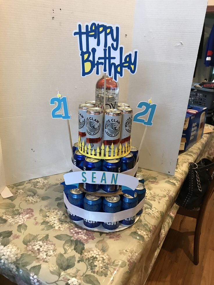 21st birthday beer and white claw cake in 2020 beer