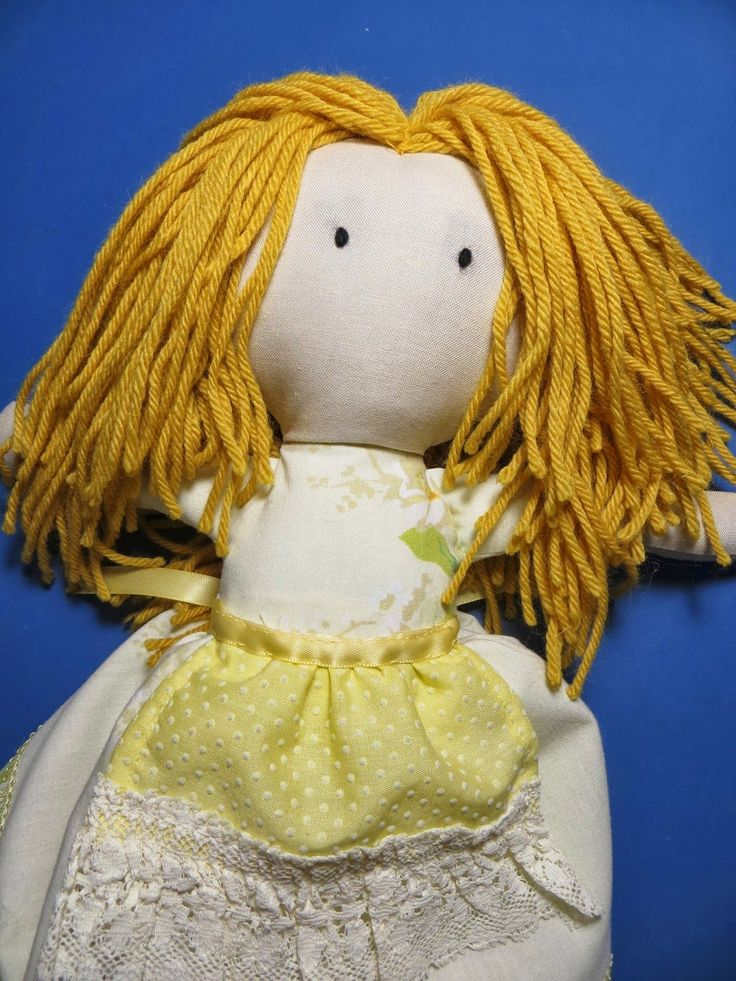 The Project Lady: Fast & Easy Way To Make Doll Hair With