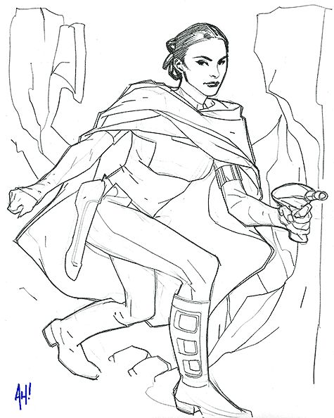 star wars princess leia coloring pages | Go Back > Gallery For > Queen Amidala Coloring Pages