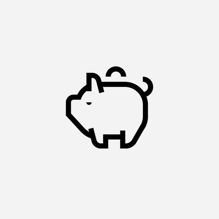 Piggy bank.  #dribbble #icondesign #iconography #icons #ui #ux #pictogram #outline #iconaday #graphicdesign #behance #pictogramdesign #design #иконка #пиктограмма #дрибббл #дизайн #piggybank #money #pig #bank #deposit #coins #calm #mood #character by evgeniyartsebasov