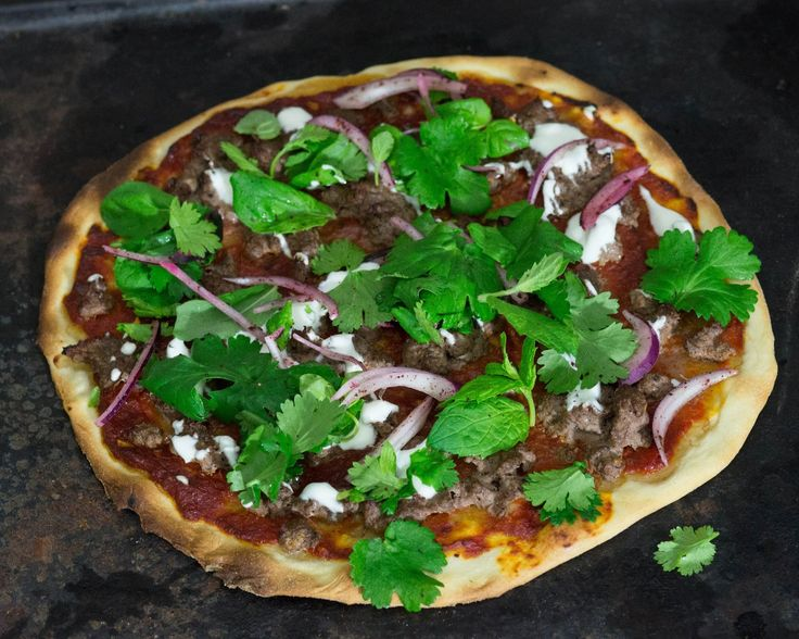 Easy Easter - Lamb pizza