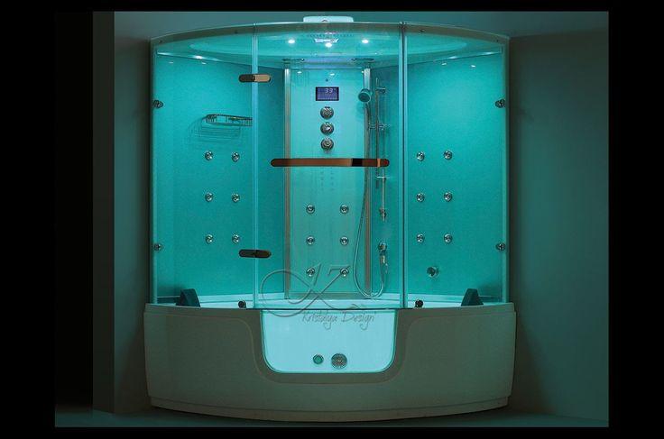 1000 id es sur le th me douche balneo sur pinterest cabines de douche baig - Baignoire balneo hammam ...