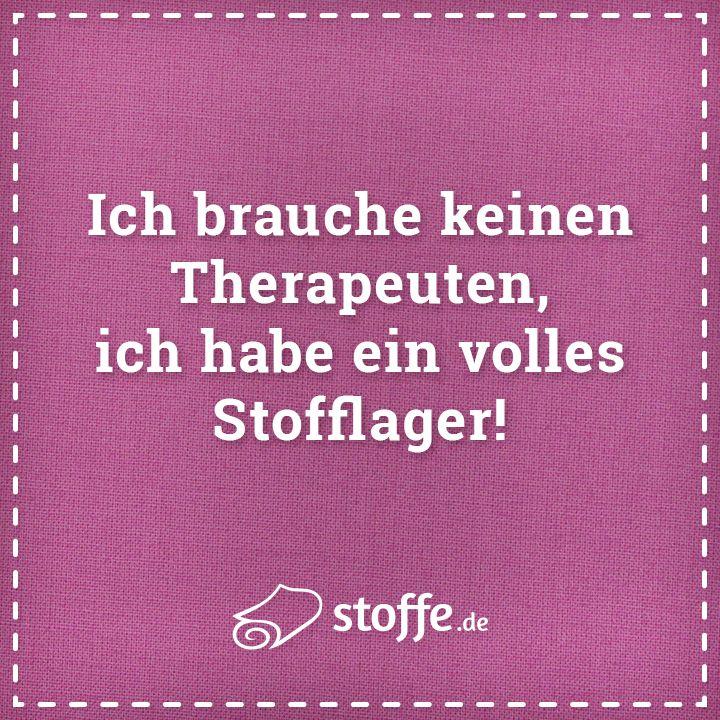 Nähen ist auch eine Form von Therapie :-)
