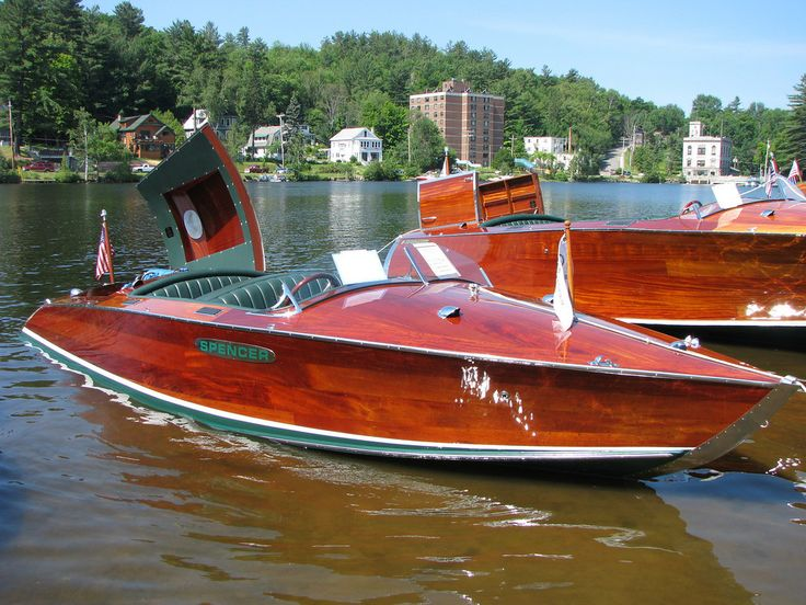 Old school classic style wood boats done by modern day craftsman