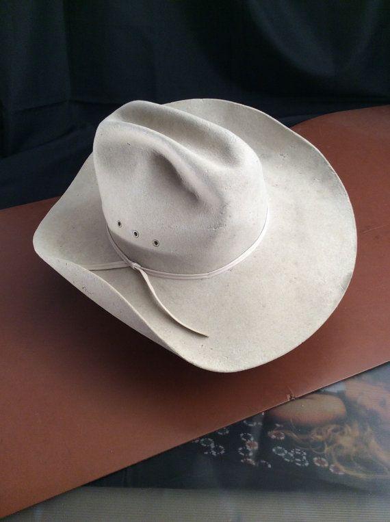 Vintage Resistol Cowboy Hat Grey Felt XXXX by PaulsEclectic