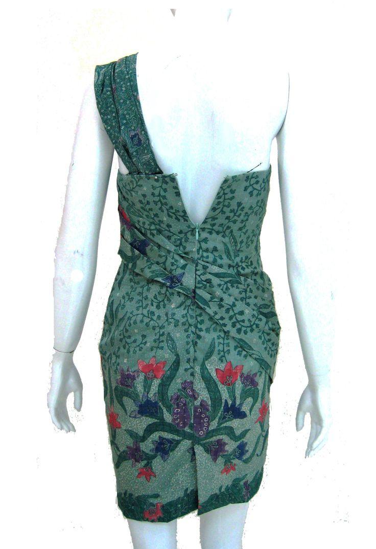 Green Batik Dress (back)