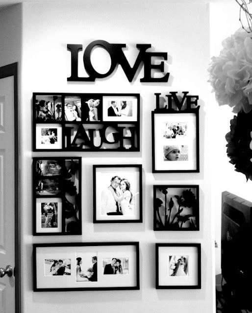 picture frame collage...love the black & white