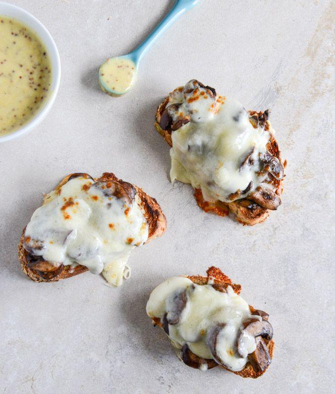 15 minute mushroom melts with mustard aioli
