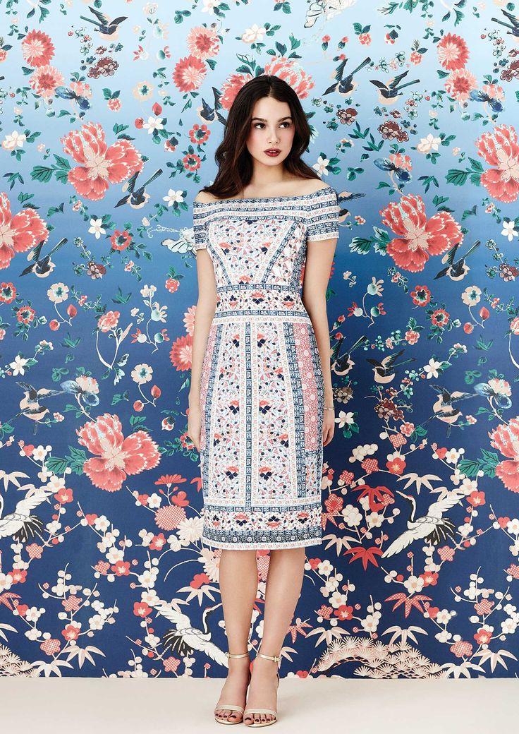 V&A Print Bardot Dress