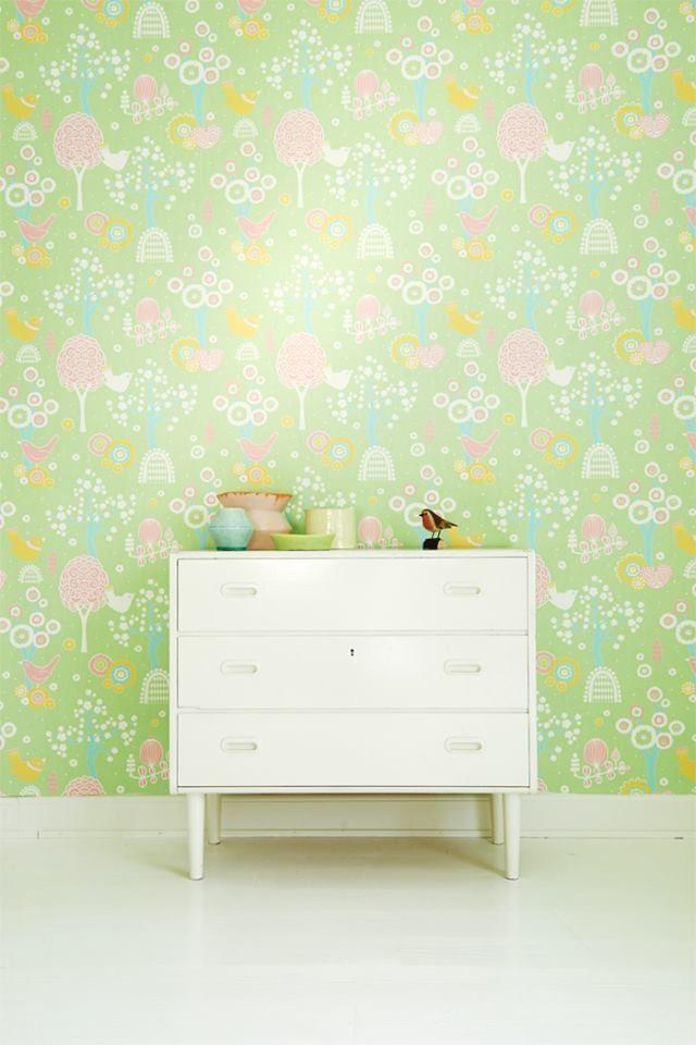 Wallpaper-Majvillan grön körsbärsdalren