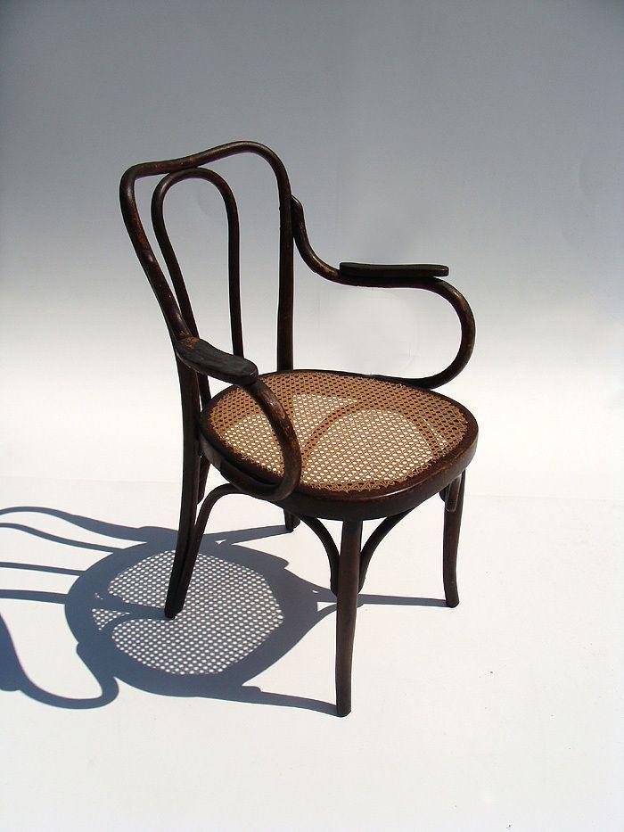 Original Beautiful Antique Bistro Chair by J J Kohn Thonet