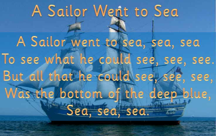 Lyrics and images for popular seaside songs