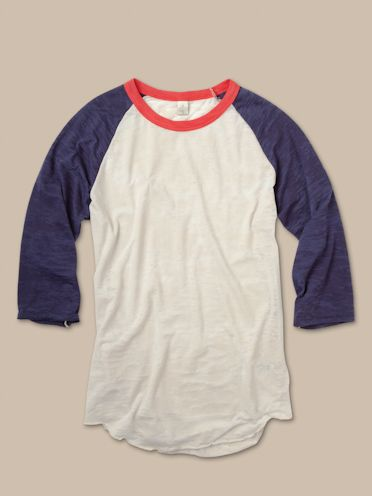 Women's Long Sleeve | USA Big League Baseball Tee | Alternative Apparel
