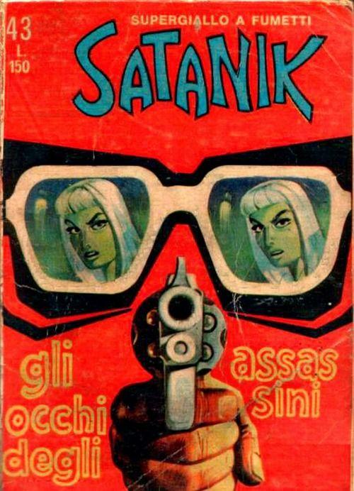 Satanik #43 comic cover by Max Bunker e Magnus, 1964