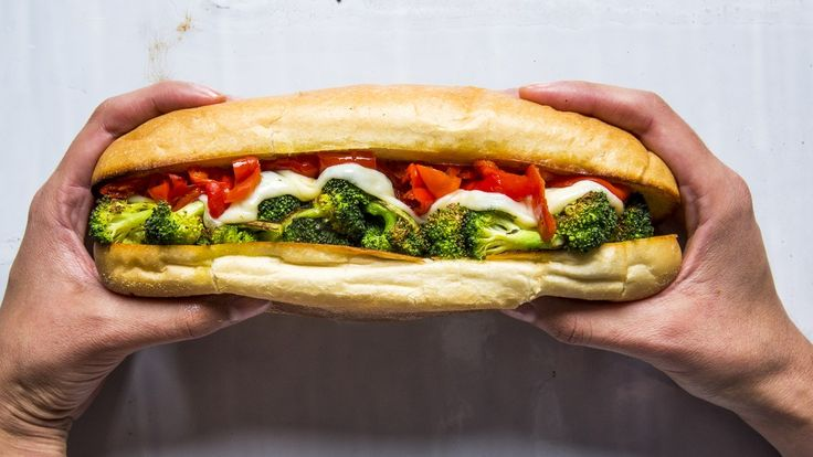Cheese gives us a lot to be thankful for, you know? Broccoli Sandwich