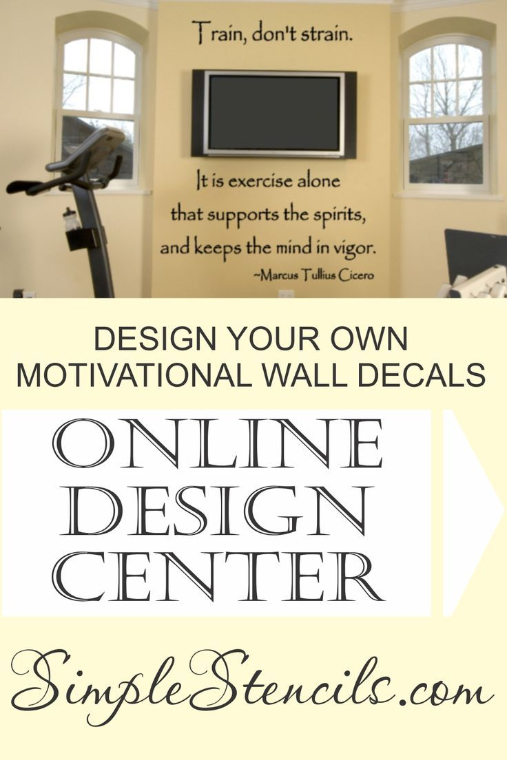 Design Your Own Vinyl Wall Decals In Our Easy To Use Online Design Center En In 2020 Motivational Wall Quotes Decals Vinyl Wall Lettering Wall Quotes Decals