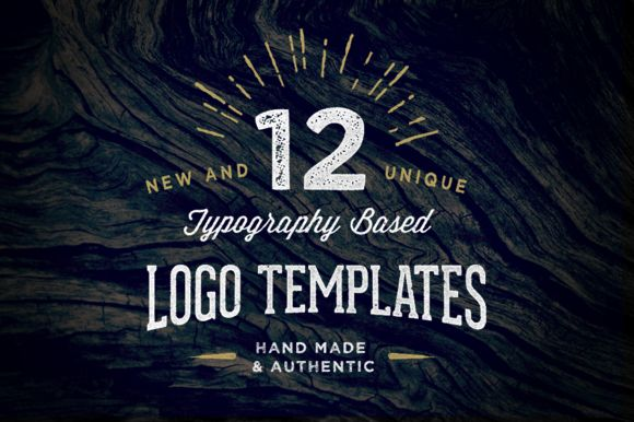 12 Typography Based Vintage Logos by Nicky Laatz on Creative Market