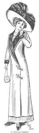 Past Patterns: #5436: Ladies' Long Coat: Circa 1911-1912