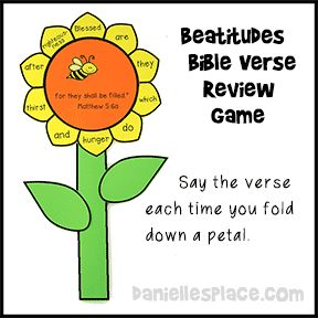 Beatitudes Bible Verse Flower Review Game from www.daniellesplace.com
