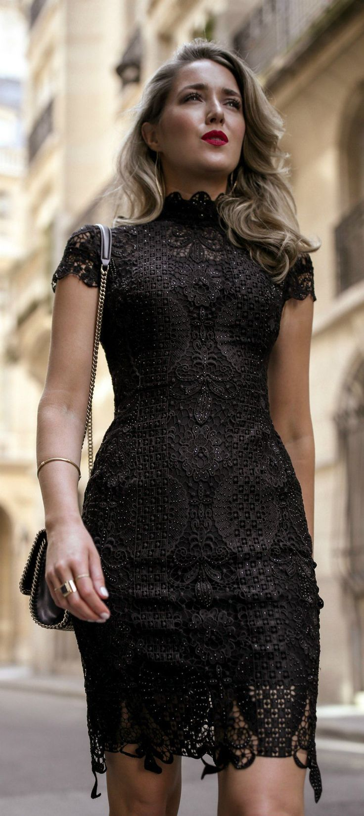 30 Dresses In 30 Days Day 11 What To Wear To A Cocktail Attire Wedding Black Lace Short Sleeve Mini Dress Gold Metallic Op Fashion Night Outfits Dresses [ 1651 x 736 Pixel ]