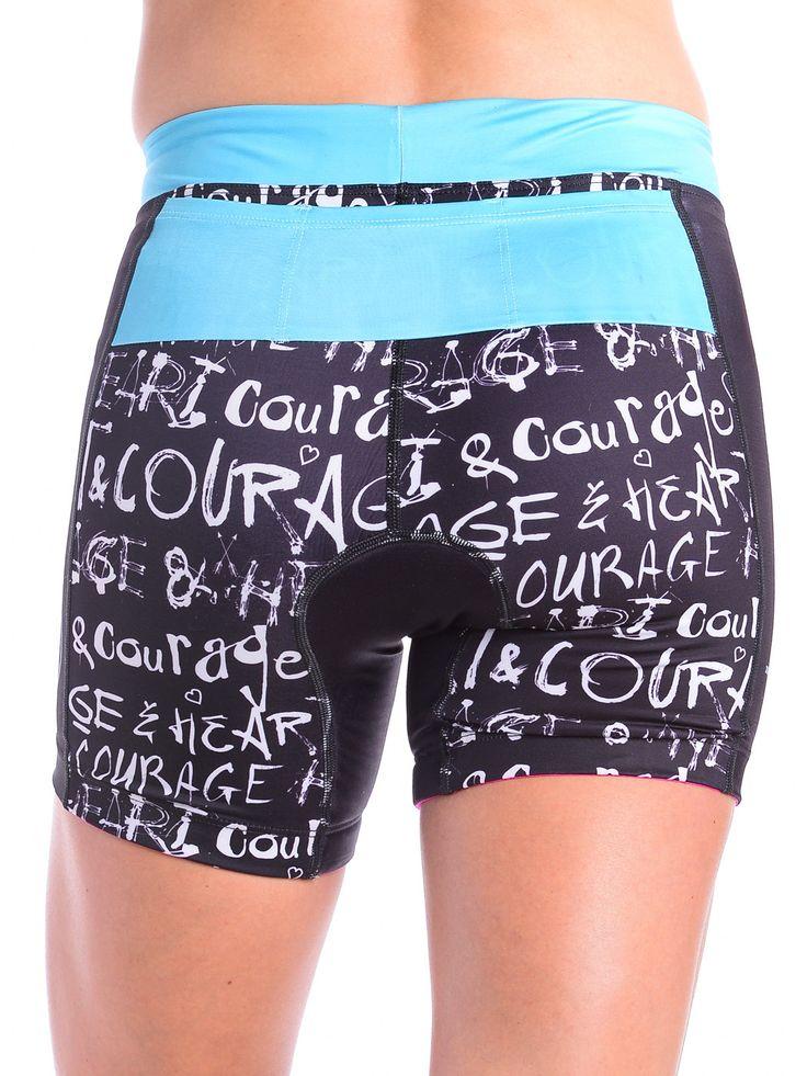 Women's Triathlon Shorts in Graffiti Design
