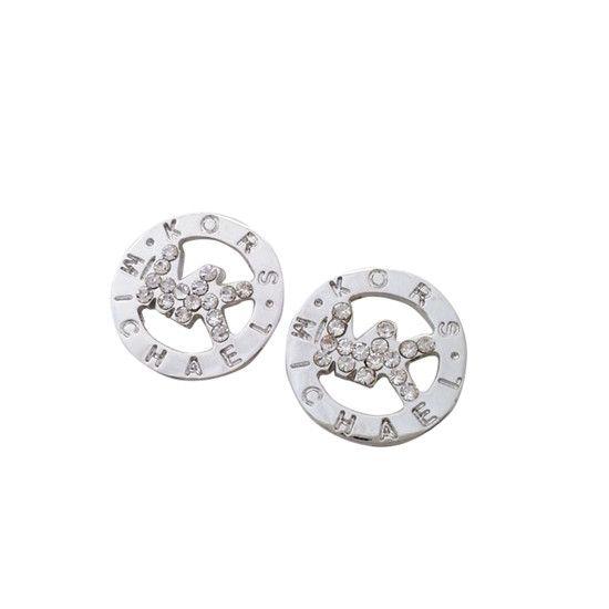 Michael Kors Slice Logo Silver Earrings