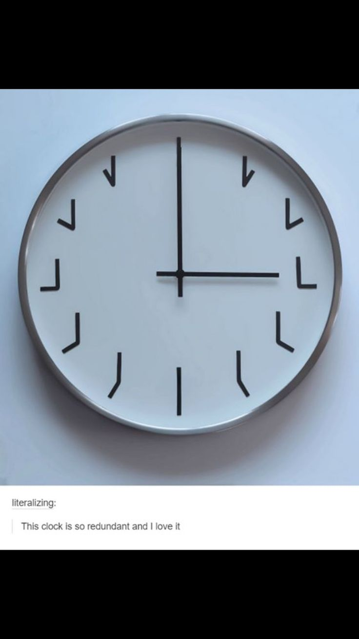 The completely ironic clock