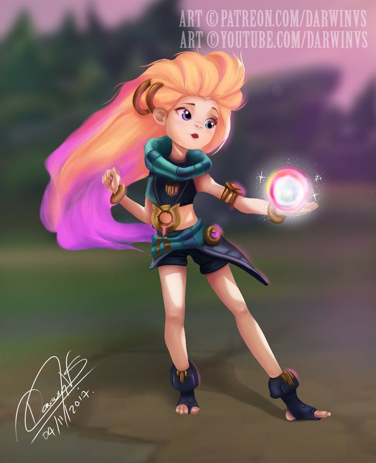 Zoe - League of Legends by killerdarwin