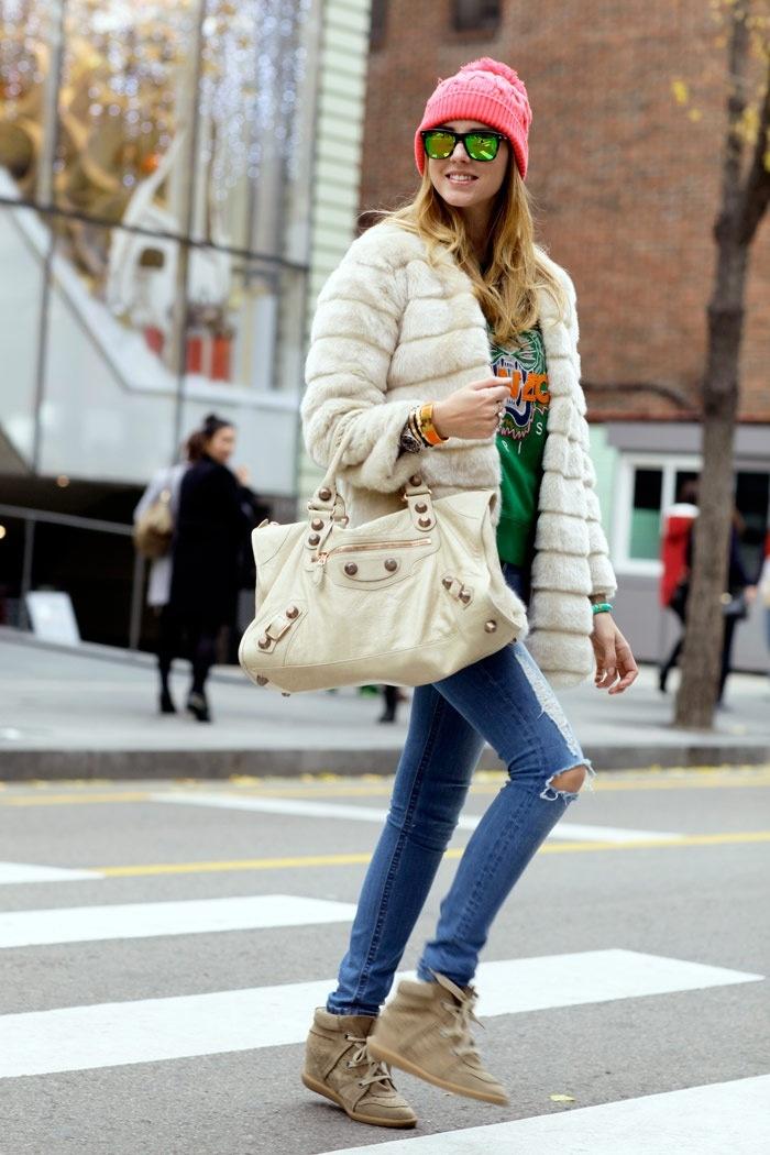 Chiara Ferragni. The Blonde Salad. Kenzo sweater