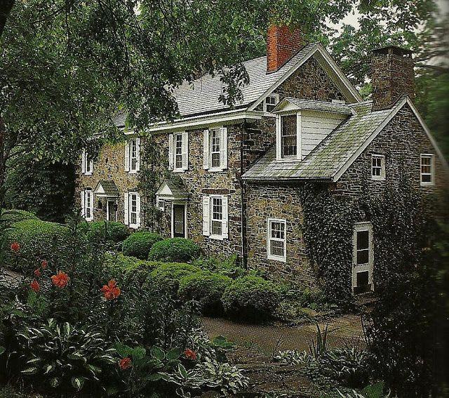 Renny Raynoldu0027s 18th Century Pennsylvania, Georgian Farmhouse · Old Stone  HousesAmerican ...
