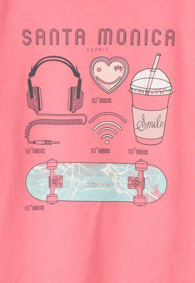 ESPRIT Bluza roz bombon cu imprimeu Fete image_3