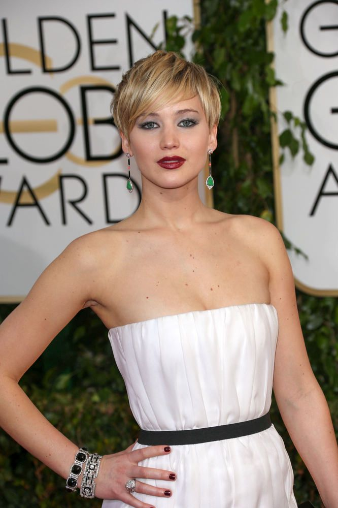 jennifer lawrence mini The 3 Hottest Hairstyles Spotted at the 2014 Golden Globe Awards hairstyles