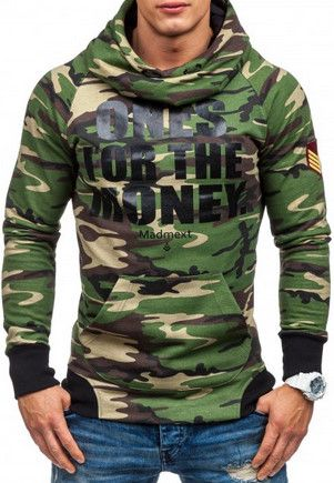 Panske mikiny s vojenskym vzorom. Tento model je veľmi obľúbený u mladých mužov:-)