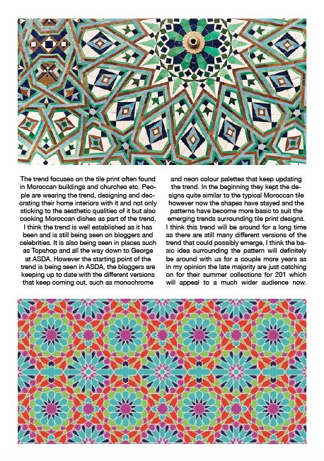 Impacts And Consequences Of The Moroccan Tile Trend