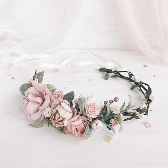 Bridal crown Floral crown wedding flower crown flower
