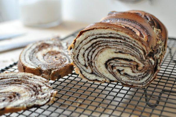 Brioche marbrée au chocolat pour le #défiboulange - La popotte de Manue
