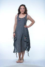 Oyalı Büzgülü Elbise  % 100 Pamuklu kumaştan  otantik elbise.